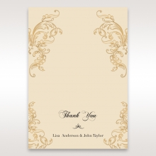 Golden Charisma thank you wedding stationery card