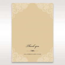Golden Classic thank you stationery card design