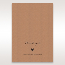 Golden Country Lace With Twine thank you invitation card