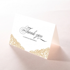 Golden Floral Lux thank you wedding card design