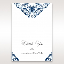 Graceful Ivory Pocket thank you invitation card