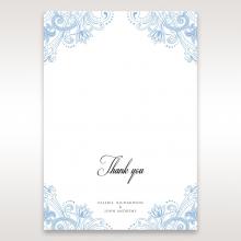 Graceful Wreath Pocket thank you wedding card