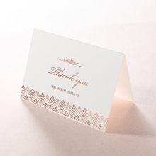 Gradient Glamour thank you wedding card