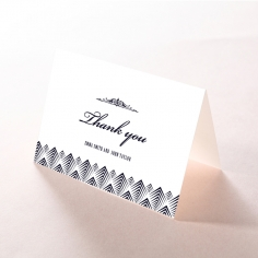 Gradient Glamour wedding thank you stationery card