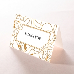 Grand Flora wedding thank you card