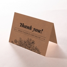 Hand Delivery wedding thank you card design