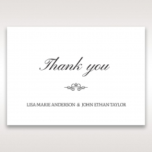Heavenly Bouquet thank you invitation card