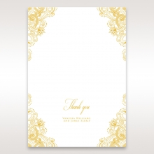 Imperial Glamour with Foil thank you invitation card