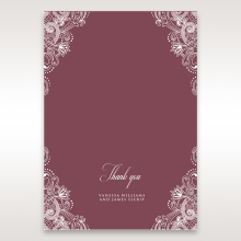 Imperial Glamour without Foil thank you invitation card
