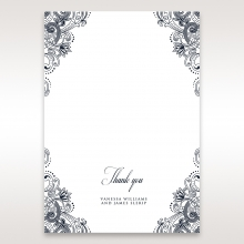 Imperial Glamour without Foil thank you wedding stationery card design