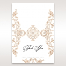 Imperial Pocket wedding stationery thank you card design