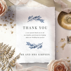 Indigo Round wedding thank you stationery card item