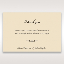 Ivory Victorian Charm thank you stationery card item