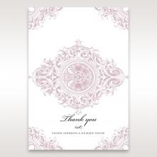 Jewelled Elegance wedding stationery thank you card item