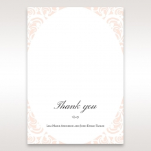Laser cut Bliss thank you wedding stationery card