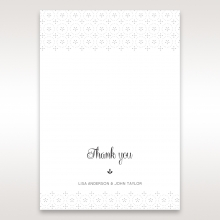 Laser Cut Button thank you invitation card