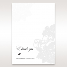 Laser Cut Floral Wedding thank you wedding stationery card