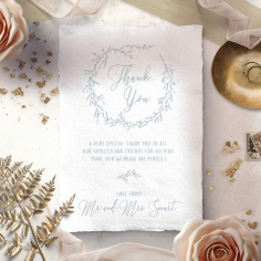 Love Circle wedding thank you stationery card design