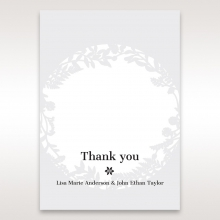 Luscious Forest Laser Cut thank you stationery card design