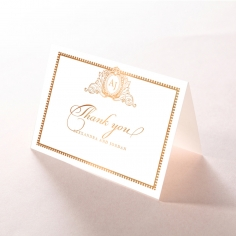 Lux Royal Lace with Foil wedding stationery thank you card item