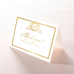 Lux Royal Lace with Foil wedding stationery thank you card