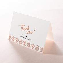 Luxe Rhapsody wedding thank you stationery card design