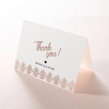 Luxe Rhapsody wedding thank you stationery card