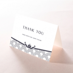 Luxe Victorian wedding thank you stationery card design