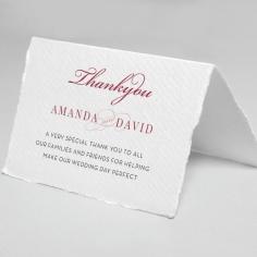 Magenta Wed wedding stationery thank you card