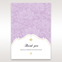 Majestic Gold Floral wedding thank you card