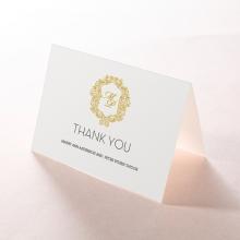 Modern Crest wedding thank you card design
