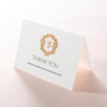 Modern Crest wedding thank you stationery card