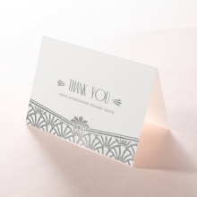Modern Deco wedding stationery thank you card item