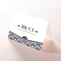 Modern Deco wedding thank you card
