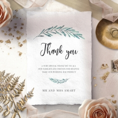 Modern Garland wedding stationery thank you card item