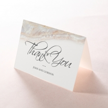 Moonstone thank you wedding stationery card item