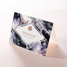 Mulberry Mozaic  with Foil wedding thank you card