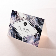 Mulberry Mozaic wedding stationery thank you card
