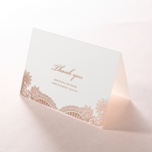 Paisley Grandeur wedding stationery thank you card