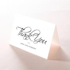 Paper Diamond Drapery wedding thank you card design