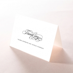 Paper Timeless Romance thank you stationery card