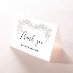 Paper Timeless Simplicity thank you invitation card