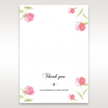 Petal Perfection wedding thank you stationery card item