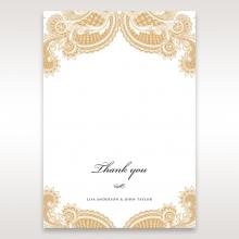 Prosperous Golden Pocket thank you wedding stationery card