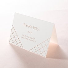 Quilted Grace wedding stationery thank you card