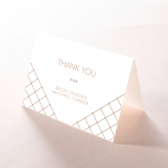 Quilted Grace wedding thank you card