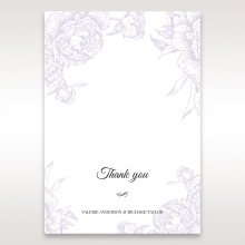 Romantic Rose Pocket thank you wedding card design
