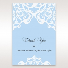 Romantic White Laser Cut Half Pocket wedding thank you stationery card item