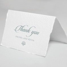 Royalty with Deckled Edges wedding stationery thank you card