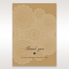 Rustic Charm wedding thank you stationery card